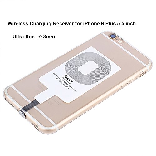 QRITY Mini Slim Qi Standard Wireless Charger Charging Receiver Card For iPhone 7 Plus 6s Plus 6 Plus (Wireless Induction Charger)
