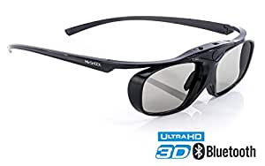 Hi-SHOCK RF Pro Black Heaven 3D Active Glasses for FullHD 4k EPSON Projector by Epson EH-TW550, EH-TW5910, EH-TW6100W, EH-TW6100, EH-TW9100, EH-TW9100W, EH-TW8100 - comp with ELPGS03 | Rechargeable