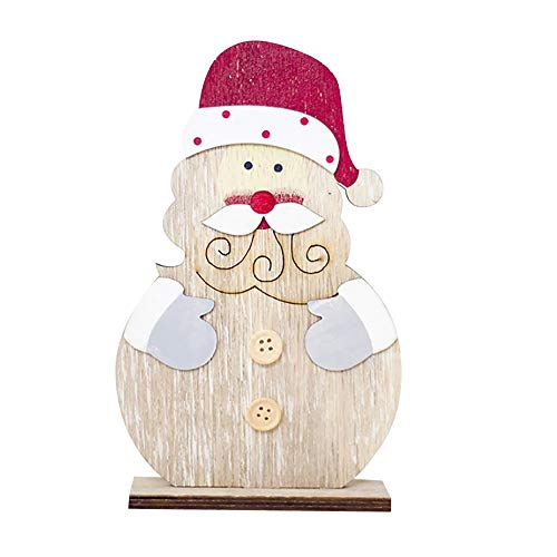Christmas Decorations,AutumnFall Clearance Sale! Snowman Christmas Decorations Wooden Shapes Ornaments Craft Xmas Gifts (C)