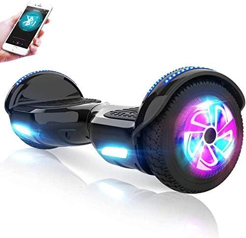 M MEGAWHEELS Hoverboard, Patinete electrico Auto Equilibrio 6.5 Pulgadas con Bluetooth, Fuerte Dual Motor y Hoverboard LED es un Regalo para niños.