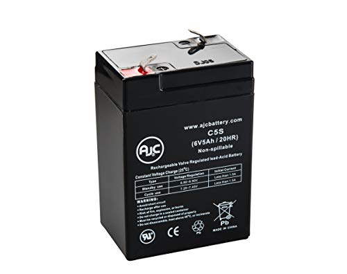 Brinkmann Spotlight QBEAM 6V 5Ah Spotlight Battery - This is an AJC Brand Replacement