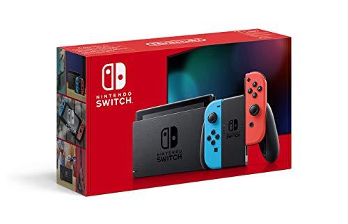 Nintendo Switch – Consola Estándar, Color Azul Neón/Rojo Neón (Modelo 2019)