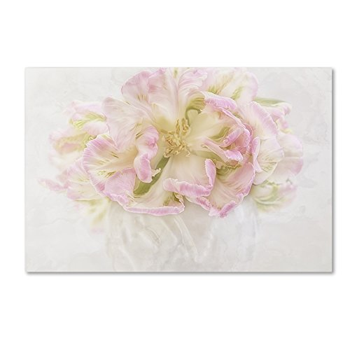 Pink Parrot Tulips Bouquet by Cora Niele, 22x32-Inch Canvas Wall Art ()