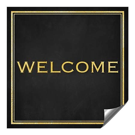 CGSignLab 36x36 Welcome Classic Gold Heavy-Duty Industrial Self-Adhesive Aluminum Wall Decal