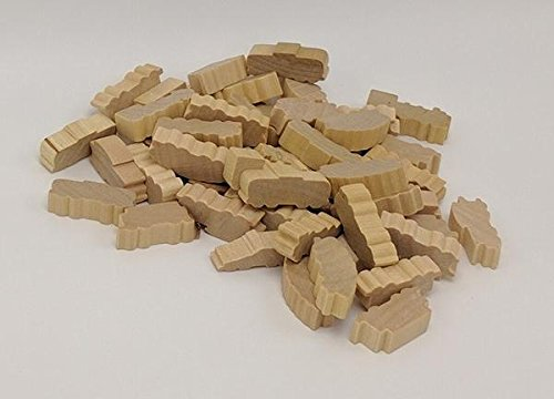 Natural Grain Wooden Train Set with 50 Train Car Tokens.