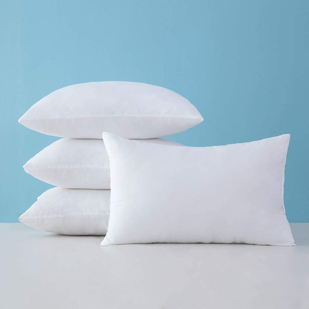 12x20 Pillow Inserts, MIULEE Pack of 4 Lumbar Pillow Inserts Decorative Rectangle Pillow Stuffers for Sofa Bed Cushion