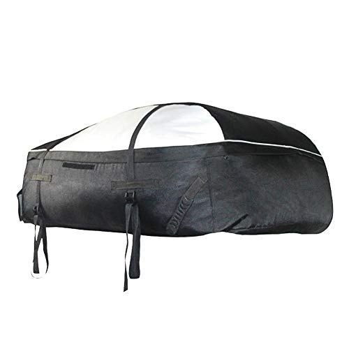 Hetesupply Car Roofbag Storage Bags Large Black Outdoor Travel Camping Waterproof Top Cargo Carrier Roof Bag with Straps for Any Cars,Van SUV by Hetesupply