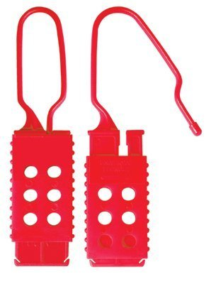 Nylon Lockout Hasp - Master Lock 428 Grip Tight Lockout for Wide or Tall Circuit Breakers