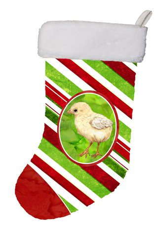 Large Multicolor Carolines Treasures SB3141-CS Baby Chick Candy Cane Holiday Christmas Christmas Stocking