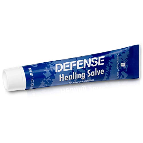 Defense Soap Herbal Healing Ointment Salve 1 Oz - Natural Tea Tree Oil and Eucalyptus Oil Helps with Skin Scratches, Scrapes, Ringworm, Acne, Psoriasis, Jock Itch, and Athlete's Foot