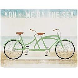 Trademark Fine Art Beach Cruiser Tandem v2 by Michael Mullan, 14x19-Inch