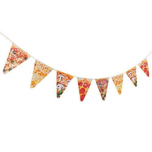 1 ~ Pizza Photo Pennant Banner ~ 7 feet long with 7 inch pennants ~ New]()