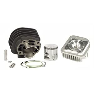 Polini Corsa 70cc big bore cylinder kit for the Honda Dio or Honda Elite scooter Comes complete with new cylinder,cylinder head,gaskets,piston,wrist pin,and clips for wrist pin This is the most popular cylinder out when modifying your Dio Rad polishe...