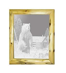 Amazon.com: Decorative Log Framed Mirror Wall Decor With ...