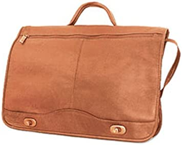 One Size David King /& Co Full Flap Turn Lock Briefcase Caf/é