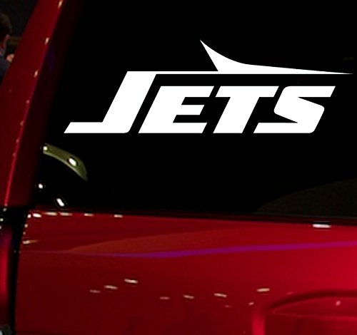 AUTO - STICKER - NFL - FOOTBALL - JETS - DECAL - FOR - CAR - TRUCK - WINDOW - SUV - COOLER - MOTORCYCLE - HELMET - HARDHAT - NOTEBOOK - FOLDER - MACBOOK - COMPUTER (JETS) - Ball Jet