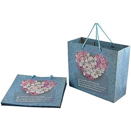 eDealMax las flores de papel del patrón Ropa de cumpleaños bolsas de regalo cajas Titular de