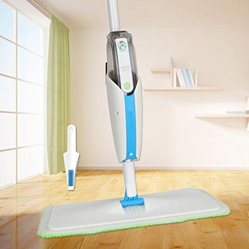 MangGou Microfiber Floor Mop, Professional 360 Degree Microfiber Spray Mop Kit, Handle Cleaning Mop with Hybrid Carbon Microfiber for House, Kitchen, Hardwood, Tile Floor Cleaning by MangGou