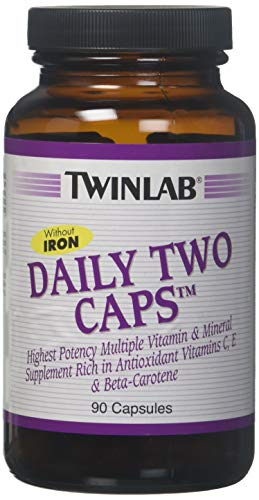 Twinlab Daily Two Caps, without Iron, 90 Capsules