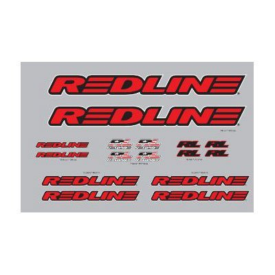 Red Line Complete Decal Set Red