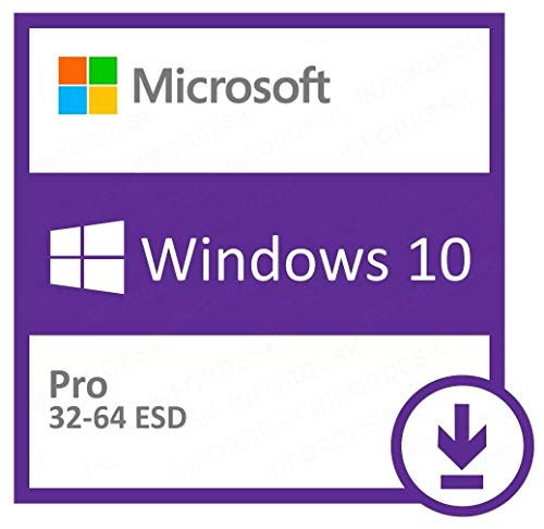 Microsoft Corporation Microsoft Windows 10 Professional 32/64-bit - License - 1 License - Pc - Download - All Languages - Corporation Four