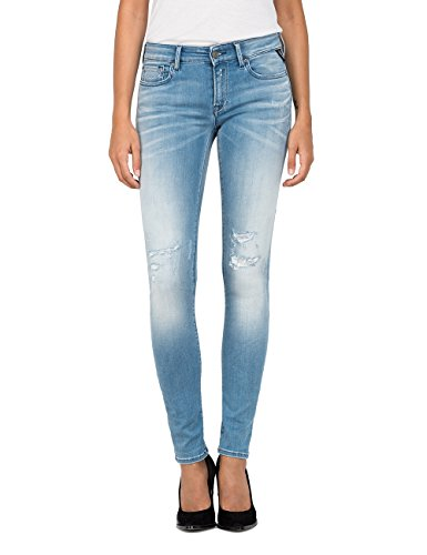 Skinny Bleu Replay Blue Femme 10 Jean Light Luz rIEqEwT