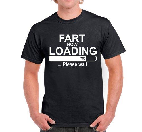 Starlite Mens Funny SayingsJokes-Fart Loading tShirt-BLK-XL