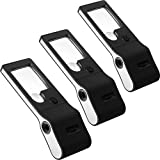 3 Pack LED Lighted 3X 10X Small Magnifying Glass with 15X Magnifier Loupe Portable Illuminated Handheld Magnifier with UV Light