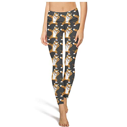 XIdan-die Womens Yoga Pants Dabbing Tiger Funny Dab Animals Workout Running Leggings (Control Soccer Keeper)