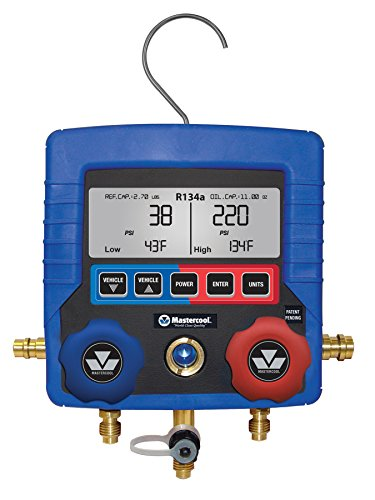 (MASTERCOOL (99134-A Blue R134A Digital Manifold Gauge)