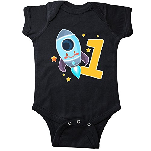 inktastic - Rocket Space Ship Happy First Infant Creeper 12 Months Black 2f6e2