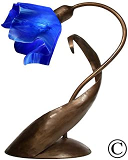 product image for Jezebel Radiance® Lazy Daisy Lamp. Hardware: Brown with Brown Highlights. Glass: Cobalt Blue, Flame Style
