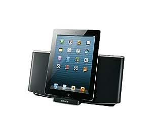 Sony RDPX200IPN - Altavoz con puerto dock de 40W para iPad, iPhone, iPod (estéreo), negro