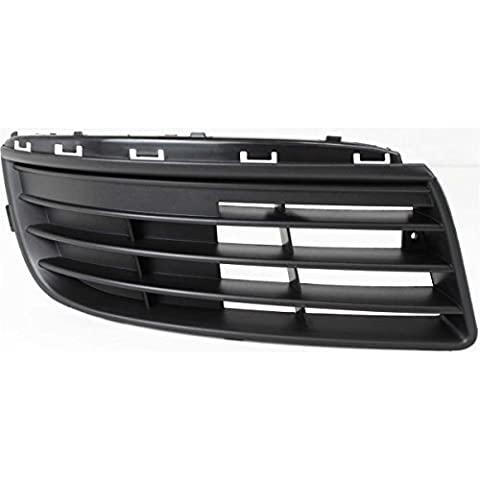 DAT 05-10 VOLKSWAGEN JETTA BLACK WITHOUT FOG LIGHT HOLES FRONT BUMPER COVER GRILLE GRILL RIGHT PASSENGER SIDE - Passenger Side Bumper Grille