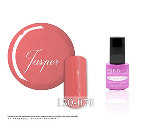 O.S.S.O Gel Polish Color One-Step Soak-off LED UV Cured No Base or Top Coat Need (Jasper) (5ml) (Jasper Led)