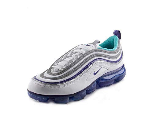 Nike Air Vapormax '97 Men's Shoes White/Aqua Varsity Purple/Metallic Silver aj7291-100 (12 D(M) US)
