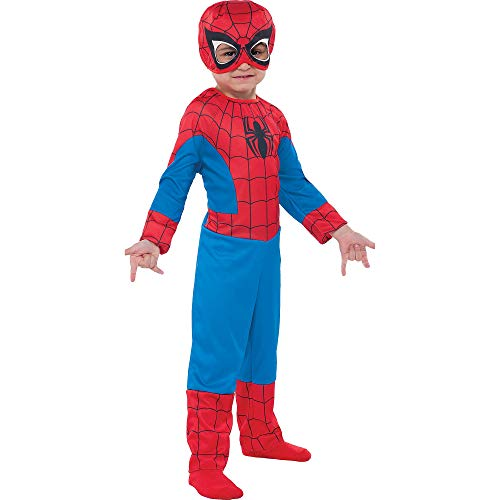(Suit Yourself Classic Spider-Man Halloween Costume for Toddler Boys, 3-4T, Includes)