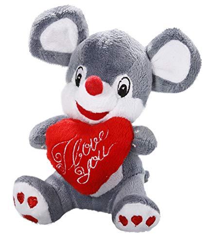 Ratón con corazón de peluche (14 cm de Carl Dick: Amazon.es ...