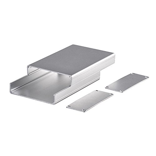 Eightwood Aluminum Project Box Electronic Enclosure Case for PCB Board DIY, 4.32'' x 2.82'' x 1.13''(LWH) Symmetrical Split Body with Stripped Sides Box by Eightwood (Image #2)