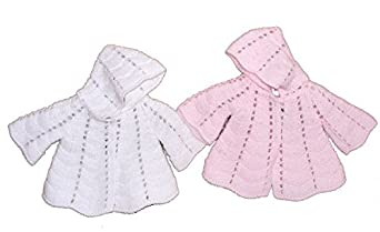 Baby Mädchen Kapuzen- Strick -Jacke-Cardigan Reborn rosa) 16C5362953