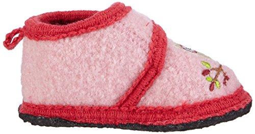 SterntalerHausschuh - pantuflas Bebé-Niños, color Rosa, talla 21/22