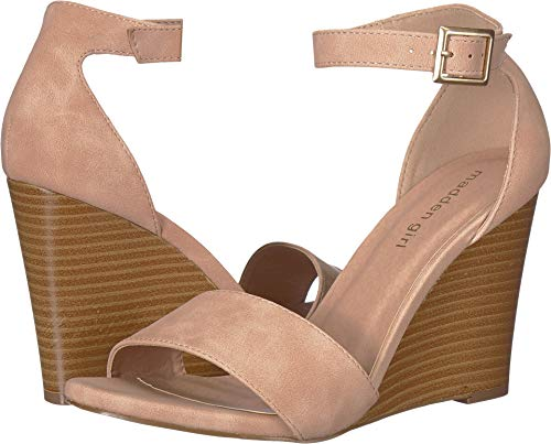 (Madden Girl Women's Wendl-S Blush Nubuck 7.5 M US)