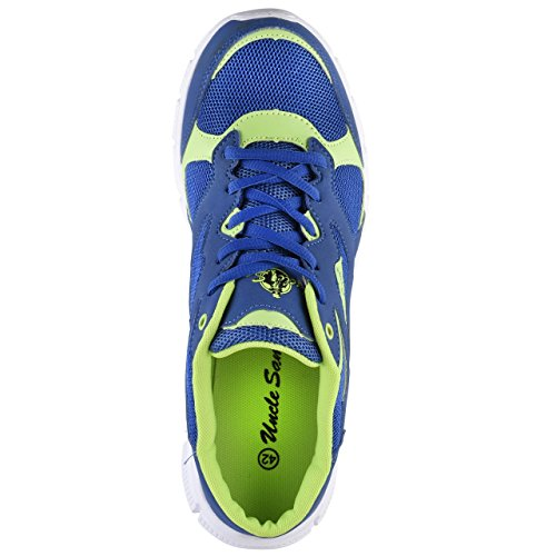 HSM Men's Running Shoes Blue/Green 0mjYS6P
