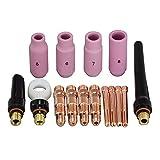 TIG Collet Body TIG Alumina Nozzle TIG Back Cup Kit Fit SR WP-17 18 26 TIG Welding Torch Accessories Consumables 16pcs
