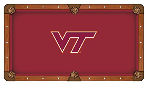 Billiard Hokies Tech Table Virginia - Holland Bar Stool Co. Virginia Tech Hokies HBS Red with VT Logo Billiard Pool Table Cloth (9')