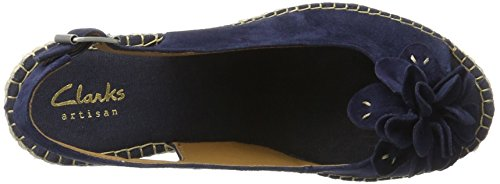Clarks Women's Petrina Bianca Wedge Heels Sandals, Blue Blue (Navy Suede)