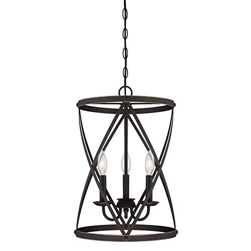 Westinghouse 6303700 Isadora Three-Light Indoor Chandelier, Oil Rubbed Bronze Finish with Highlights