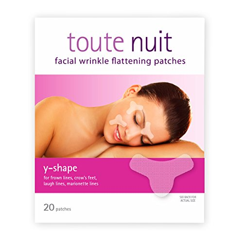 Toute Nuit Facial Wrinkle Flattening Patches - Y-SHAPE Reduces and Prevents Frown Lines (Anti-Wrinkle Patches/Face Tape)