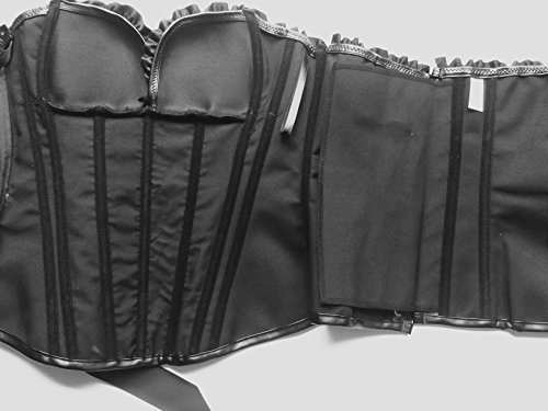 ZAMME Steampunk corsé de cuero de la cintura de la mujer