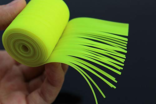1m Chartreuse Silicone Skirts Round Cylinder 1mm Spinner Bait Squid Rubber Thread Fly Tying Materials